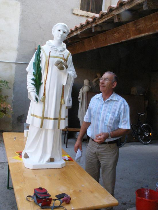 Rénovation statue pieuse