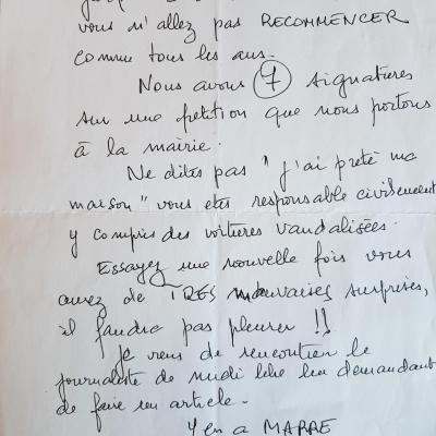 Lettre anonyme 3